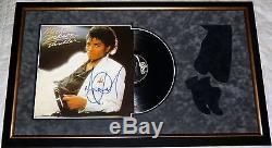 Album Suspendu Personnalisé Encadré Autographié Par Michael Jackson! Preuve + Coa