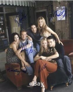 Amis Cast Autographes Dédicacés Tv Télévision Comédie Spectacle Cinq Signatures