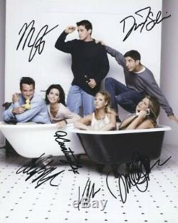 Amis Cast Tv Autographes Signée À La Main Télévision Comedy Show Six Signatures