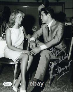 Ann Margret Main Signée 8x10 Photo Grande Pose Avec Elvis À Steve Jsa