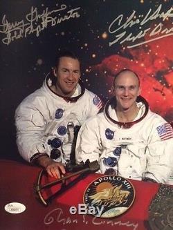 Apollo 13 Signé À La Main Surpassé 11x14 Haise Photo + Kranz + Kraft + 3 Plus De Jsa