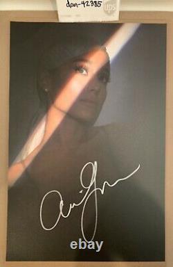 Ariana Grande Sweetener Signé À La Main / Lithographie Autographiée / Litho / Poster