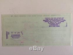 Artiste Bob Ross, Chèque Signé À La Main, 1987, Rare Signature Hautement Collectionnée Aimée