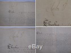 Attrayant Roi Charles Ier Comme Prince, Le Document Original Signé À La Main, Rare De Trouver
