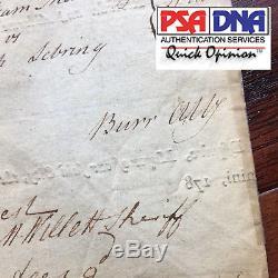 Autographe Aaron Burr Signé A La Main Tôt Au Départ Document De Référence Juridique Alexander Hamilton