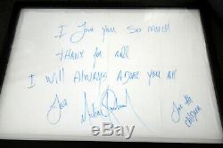 Autographe Michael Jackson / Le Linge Signé / Texte Manuscrit (enchères De 2012)