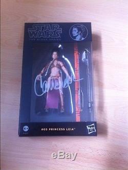 Autographe Signé À La Main De Carrie Fisher, Série Star Wars Black Series De Star Wars - Noir