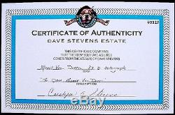 Autographe Signé À La Main De Mamie Van Doren À Dave Stevens Rocketeer, Photo Aoc Des Années 1950