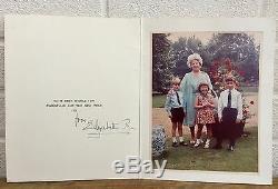 Autographe Signé À La Main - Elizabeth Royal, Reine Mère - Carte De Famille De Noël 1971