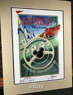 Autographe Signé À La Main Par Chip Foose Au Volant De Mcqueen Disney Cars Wdw