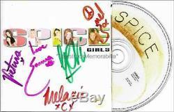 Autographes Spice Girls Spice Victoria, Geri, Mel B & C, CD Signé À La Main D'emma