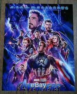 Avengers Endgame Autographed A La Main Signé 8x10 Photo Downey / Ruffalo / Hemsworth