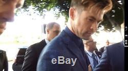 Avengers Endgame Withchris Evans +18 Affiche Autographe Signée À La Main