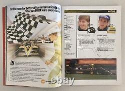 Ayrton Senna Signé À La Main 1986 Programme De Grand Prix D'australie