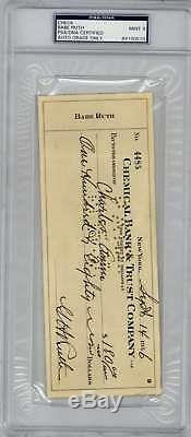 Babe Ruth, Autographe, Signé, Signé, 1936, Psa / Dna