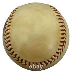 Babe Ruth Hof Yankees Autographié/signé Hand-painted Baseball Jsa & Psa 145320