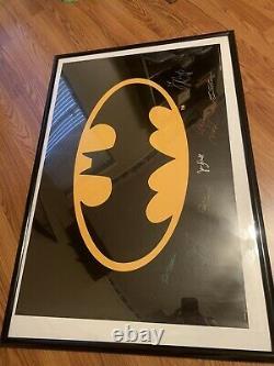 Batman Autographié Signée À La Main Poster 27x40 Nicholson Keaton Basinger Cast Coa