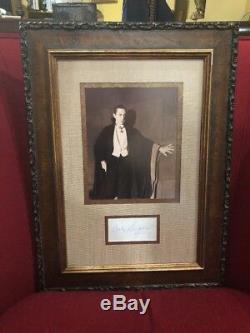Bela Lugosi Dracula Authentique Photo Autographiée Encadrée Autographe Uca Coa Encadré