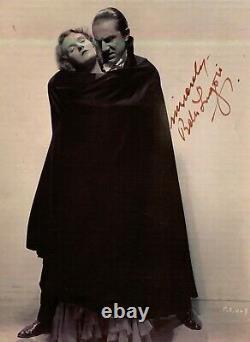 Bela Lugosi Rare Dracula Original Hand Signed Photo Full Coa Aftal Approved