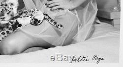 Bettie Page Signée Autographe 8x10 Photo Pinup Original Bunny Yeager Mt Coa