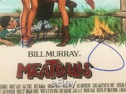 Bill Murray Signée À La Main Autograph 12x18 Poster Photo Signature Rare Boulettes De Viande
