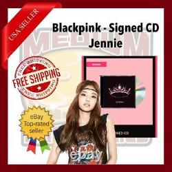 Blackpink The Album CD With Signed Cover Autograph Par Jennie Us Seller In Hand