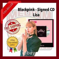 Blackpink The Album CD With Signed Cover Autograph Par Lisa Us Seller In Hand