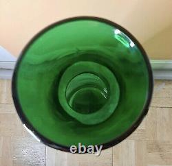 Blenko Verre Vintage Vase Soufflé À La Bouche MID Century Art Decanter Blenko Autographié