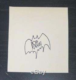 Bob Kane, Co-créateur De DC Comics Batman, Page Signée À La Main, Todd Mueller, Coa