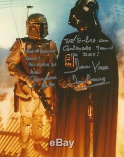 Boba Fett Darth Vader Star Wars Prowse Bulloch Main Photo Dédicacée Inc Citations Coa