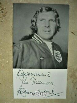 Bobby Moore Carte Originale Autograph Signée À La Main Coupe Du Monde 1966