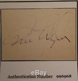 Brian Epstein, Beatles Card Manager Signée À La Main Avec Photo Et Loa