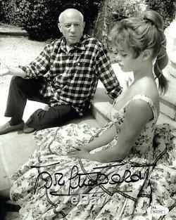 Brigitte Bardot Main Signe 8x10 Photo Rare Pose Avec Picasso Jsa