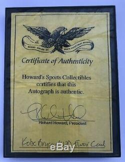 Bryant Main Autographed Kobe Ud Jeu Étage 2002-03 Hardcourt # Kb-f W Coa Mint