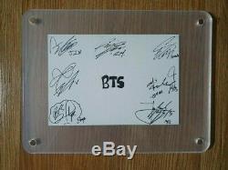 Bts 2014 Sbs Ingikayo Q Card Autographiée À La Main, Signée