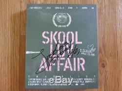 Bts Bangtan Boys Album Promo 3 Fois Signé Jungkook Autographié À La Main