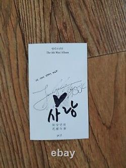 Bts Bangtan Boys Hyyh Album Promo Autographed Hand Signed Jungkook
