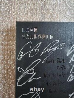 Bts Bangtan Boys Love Yourself Tears Album Autographié Signé À La Main