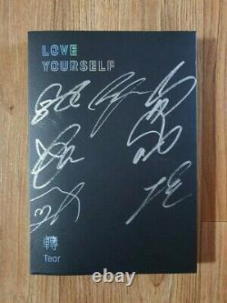 Bts Bangtan Boys Love Yourself Tears Album Promo Autographed Hand Signé