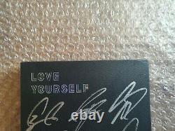 Bts Bangtan Boys Love Yourself Tears Album Promo Autographied Hand Signed