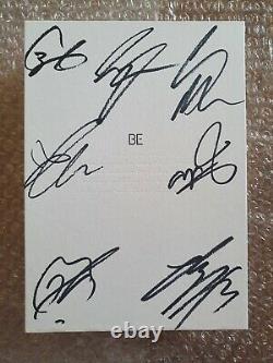 Bts Bangtan Boys Promo Be Deluxe Edition Album Autographié Main Signée Full Set