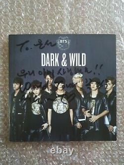 Bts Bangtan Boys Promo Dark & Wild Danger Album Autographié Signé À La Main