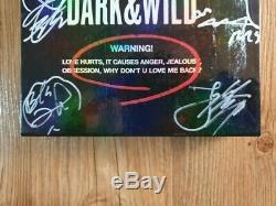 Bts Bangtan Boys Promo Dark & sauvage Danger Album Autographié Signée À La Main