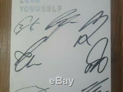 Bts Bangtan Boys Promo Love Yourself Son Album Autographié Signée À La Main