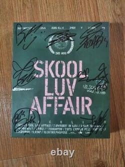 Bts Bangtan Boys Skool Luv Affair Album Promo Autographié Main Signée