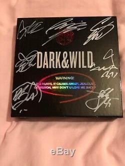 Bts Bangtan Dark & danger Sauvage Album Autographié Signée À La Main Jin Photocard
