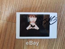 Bts Bangtan Garçons Non Dévoilé Véritable Polaroid Autographié Main Signé Jin