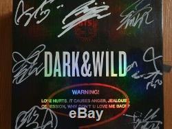 Bts Promo Dark & danger Sauvage Album Autographié Signée À La Main Type A