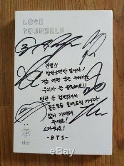 Bts Promo Love Yourself Son Album Autographié Signée À La Main Type De Message B