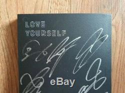 Bts Promo Love Yourself Tear Album Autographié Signée À La Main Type A